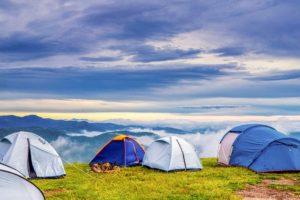 Wassersäule Zelt