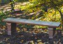 Gartenbank ohne Lehne