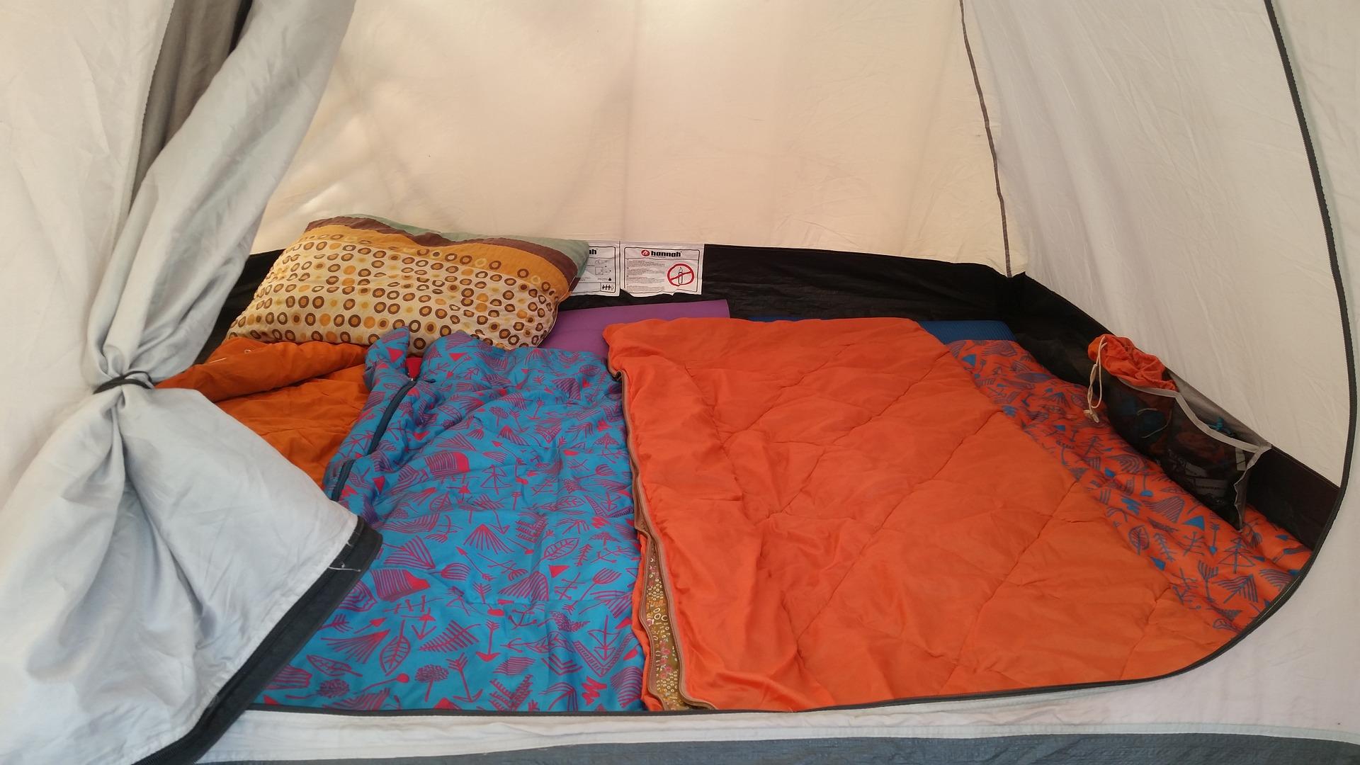 zelt schlafsack