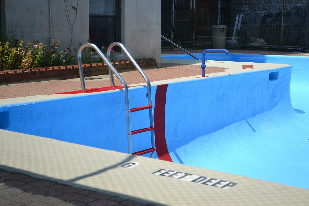 poolleiter aus edelstahl