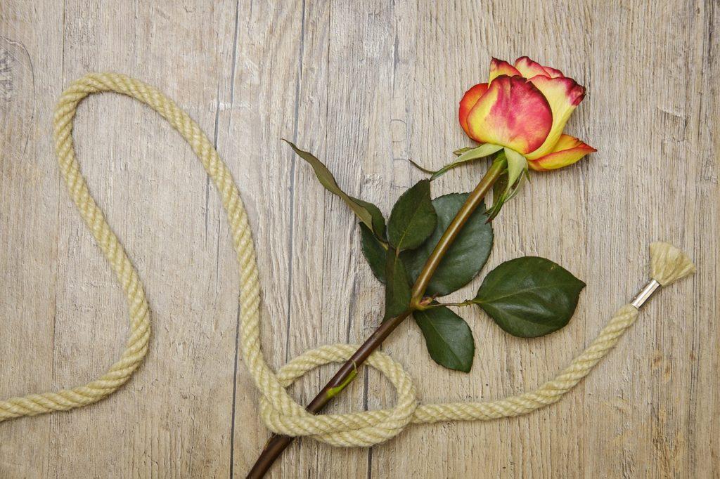 Hanfseil mit Rose