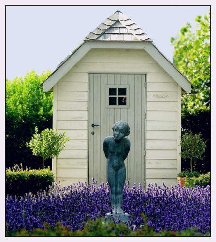 Gartenhaus weiß