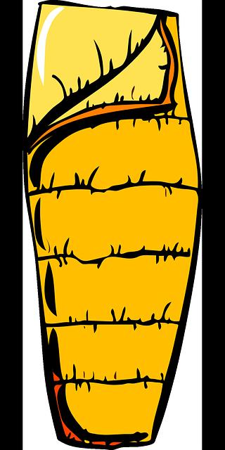 Schlafsack Gelb